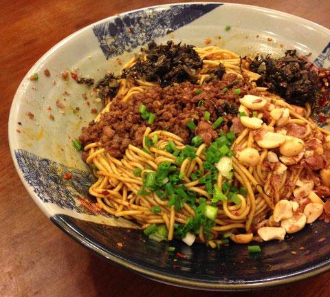 上海の和え麺「燃油」うまい!安い!@蜀巷