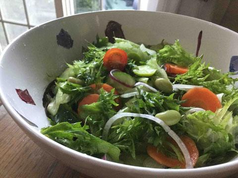 いろいろな野菜を入れると野菜の食感や香りが楽しめていいのです