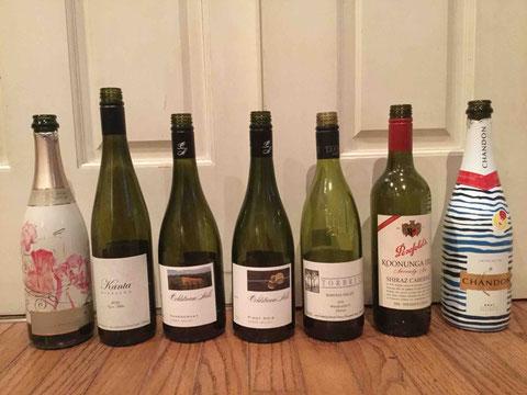 ワインのラインナップ