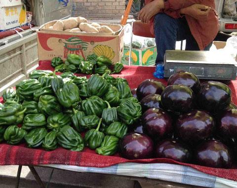 おいしそうな野菜が並ぶ
