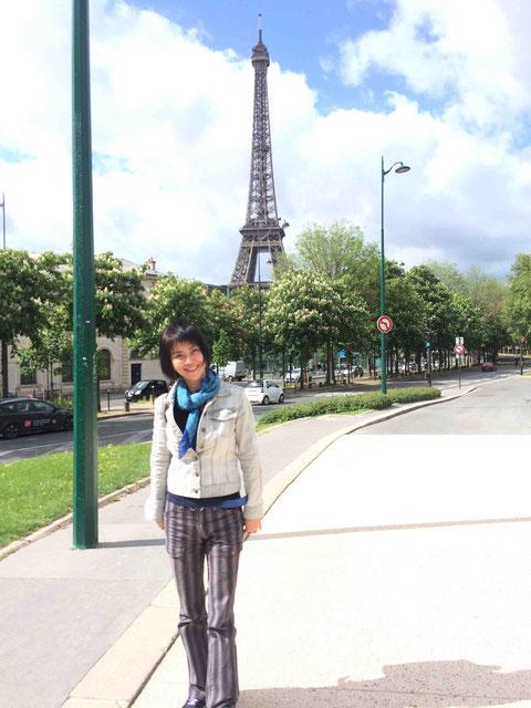こんな笑顔で「フランス大好き」って言える自分が嬉しい。かつてのいろいろを乗り越えることができたから