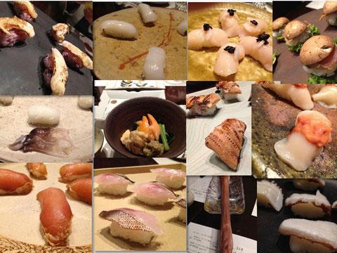 岡田さんの仕事が味わえる寿司たち