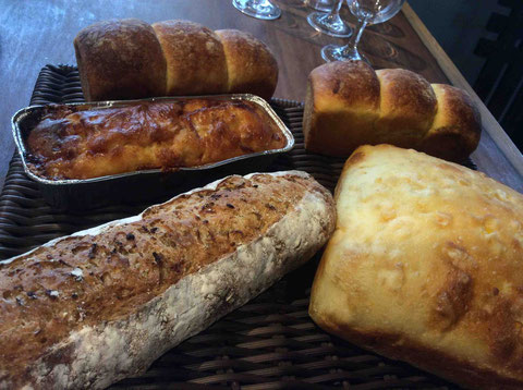 当日の朝に焼いてくれたパンもこんなに!