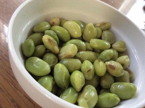 秘伝豆。山形の地豆。