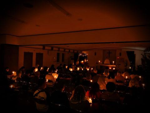 christmas mass catholic chitose church christmas party hokkaido
