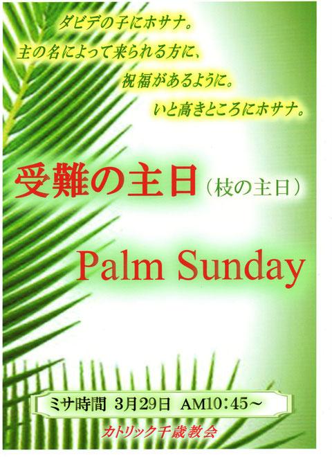 カトリック千歳教会枝の主日(Palm Sunday)