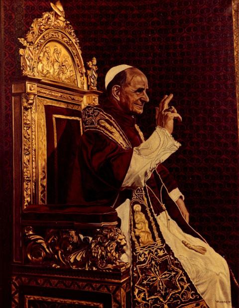 """""""Papst Paul VI"""", Ölgemälde von W. Vacano (c)"""