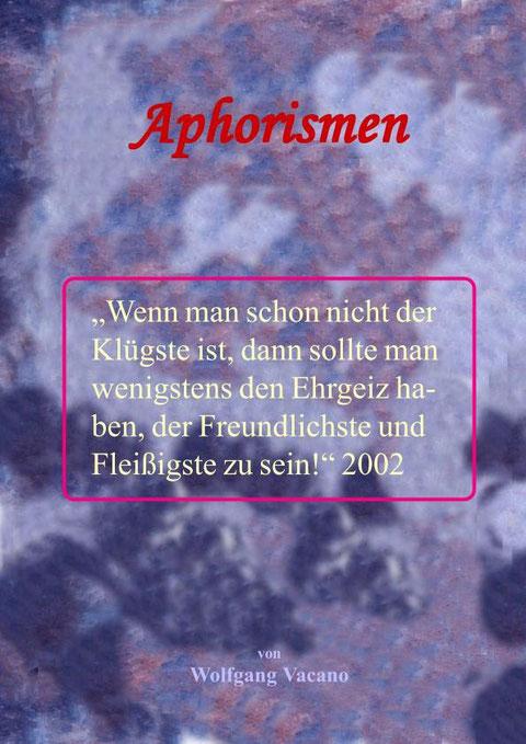 Titelseite einer 20-seitigen Broschüre von Wolfgang Vacano 2012 (c)