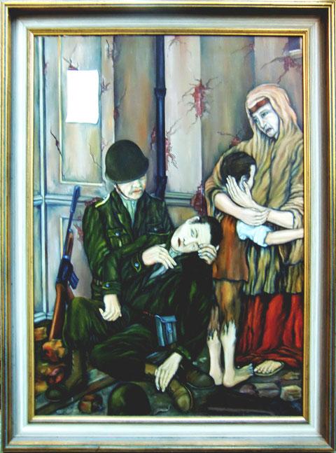 """""""Trauer und Zerstörung"""", Gemälde von W. Vacano (c)"""