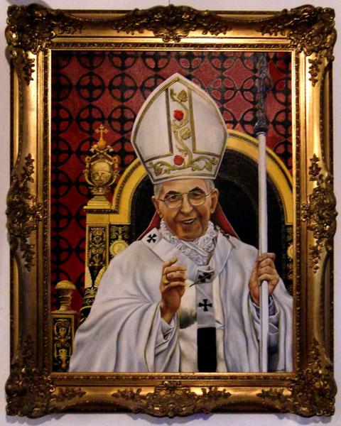 Pabst Johannes Paul IV. Ölgemälde von W. Vacano (c)