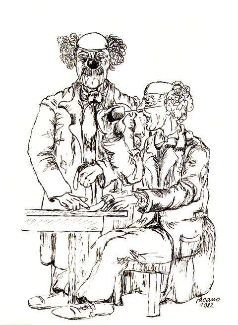 """""""Im Zwiegespräch vor dem Auftritt."""", von Wolfgang Vacano (c)"""