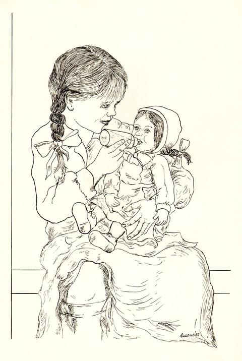 """""""Die Puppenmutter"""", von W. Vacano (c)"""