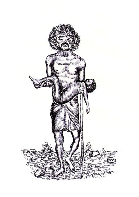 """""""Armut ist ein schreckler Partner des Todes!"""", von W. Vacano"""