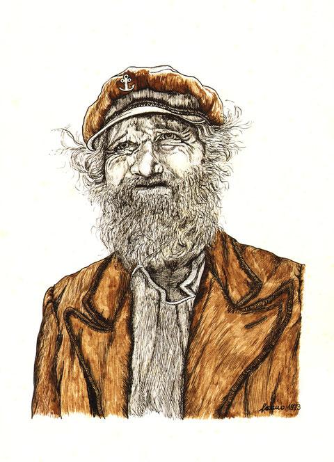 """""""Der alte Kapitän"""", von W. Vacano (c)"""