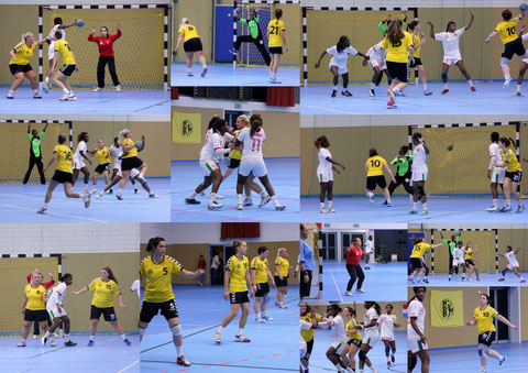 Scènes du match HBP-Dames - Équipe nationale de GUINÉE
