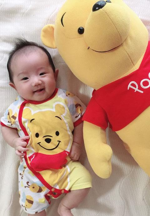 赤ちゃんの時からよく笑う子でした。