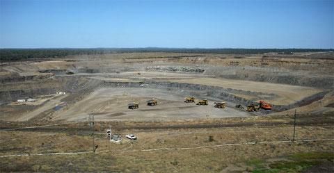 A coal mine under development in Queensland