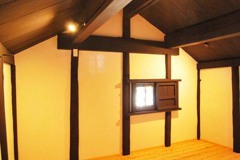 蔵 窓リフォーム 天井照明