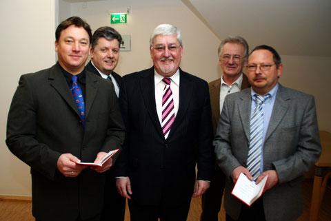 v.l.n.r.: Markus Hubele, Dr. Walter Bersch, Joachim Mertes, Reinhold Petereit, Frank Halfmann