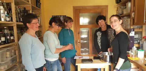 Erste Schritte in der Rührküche im Forsthaus