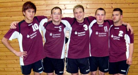Das Seniorenteam (v.l.n.r): Kim Tipransee, Dimitri Kektschiew, Danny Krimmel, Tim Nagel u. Oliver Werner