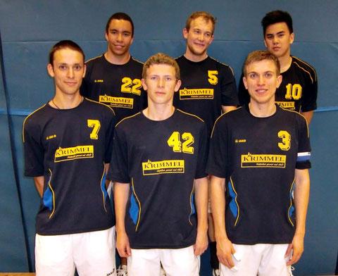 Sie hatten sich mehr als Rang 7 erhofft: Niklas Denker, Alexander Stober, Felix Werner, Dimitri Kektschiew, Danny Krimmel u. Kim Tiprangsee (von links)