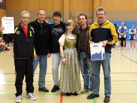 Siegerehrung mit Weinkönigin bei unserem Lieblingsturnier in Edenkoben / Pfalz
