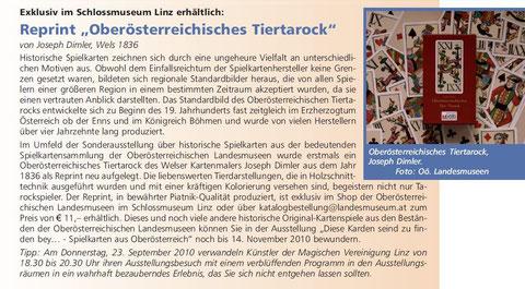 Zeitungsartikel Museumsjournal 9/2010 OÖ Landesmuseum