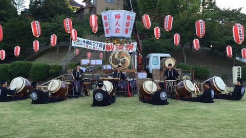 久々の演奏中の写真です!!鯖江市水落町2丁目の納涼祭にて(^▽^)♪