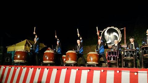 われらが地元、月尾谷祭りにて!!ここ2年ほど雨で屋内演奏でしたが、今年は晴れて屋外ステージで演奏できました!!!