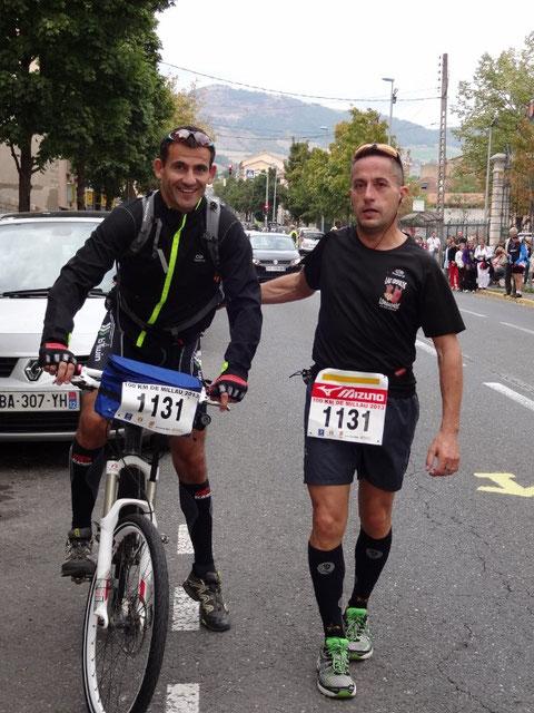 Hervé et Gael, son accompagnateur sur la 2e partie du circuit.