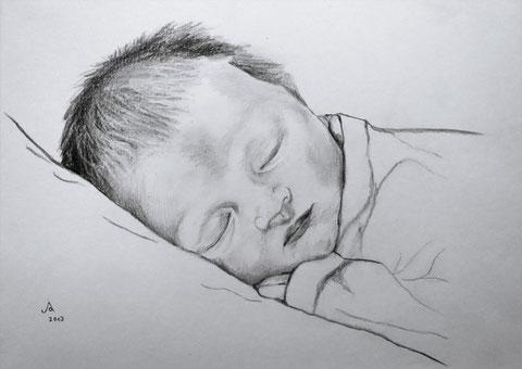 Lina, Zeichnung A3, 2013