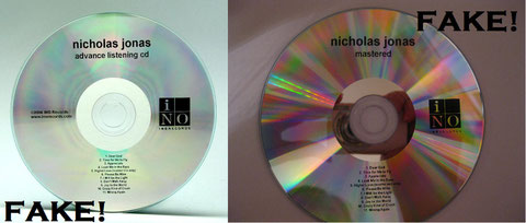 nicholas nick sons of jonas brothers solo cd album rare fake advanced mastered