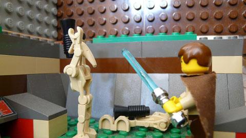 Avec des droïdes aussi trouillards,il n'y a pas de quoi s'inquiéter !
