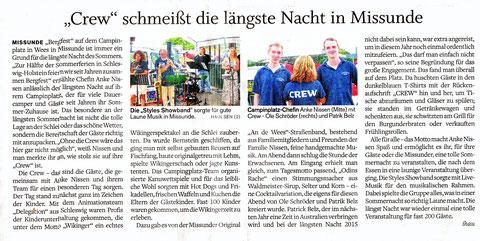 Eckernförder Zeitung, 29. Juli 2014