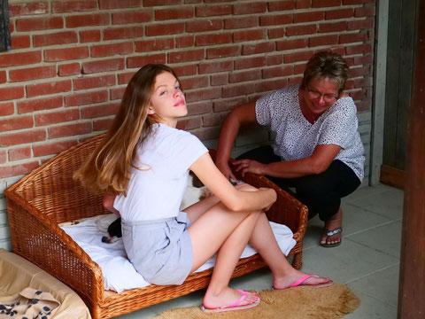 Ziemlich netter Besuch taucht auch zwischendurch mal auf - Silke mit Tochter Denise