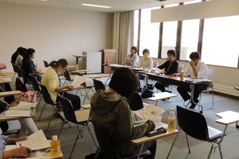 北海道枝幸町で行われた子育てコーチングの養成講座の写真です。