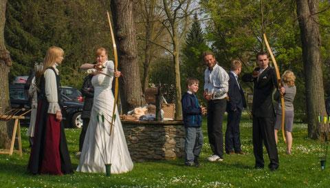 Bogenschießen im Schlosspark