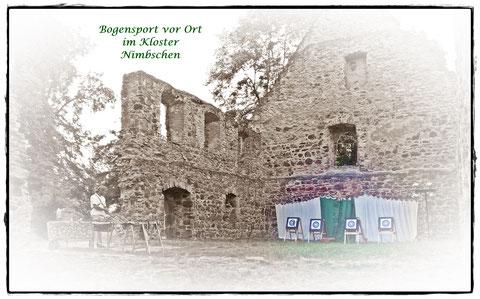 Bogensport vor Ort im Kloster Nimbschen