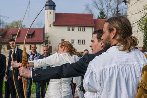 Bogensport vor Ort im Wasserschloss Klaffenbach