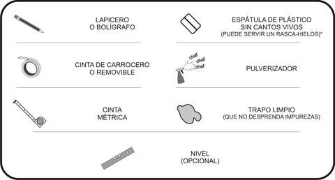 Herramientas para colocar vinilo en superficies lisas