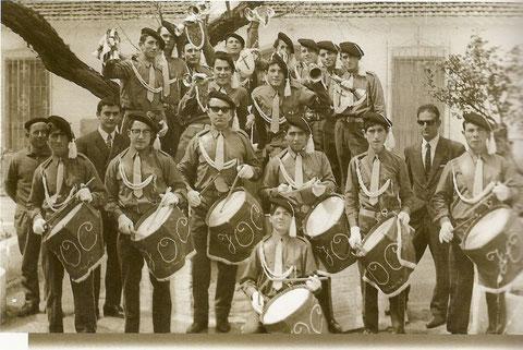 """La banda """"tambores y cornetas"""" en 1967"""