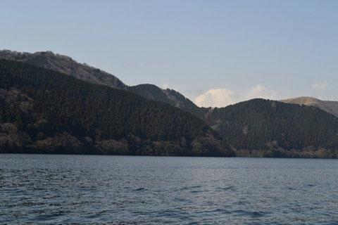 芦ノ湖から見える富士山は、いつも綺麗だ。