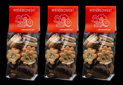 Wienerkonfekt von der Bäckerei-Konditorei Spicher in Gunten am Thunersee