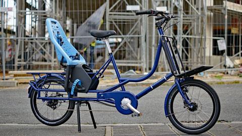 Bicicapace Justlong Lastenrad mit Kindersitz