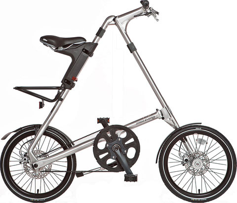 Die neue 3-Gang Generation: Strida EVO 18'' in Silver Brush