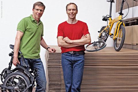 Heiko Müller und Markus Riese, die Erfinder des Birdy | Zum Vergrößern anklicken