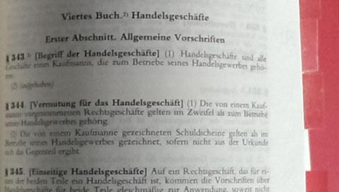 § 343 Handelsgesetzbuch