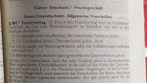 § 407 Handelsgesetzbuch