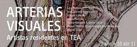 El Colectivo RED ( Rafael Pinillos, Élida Dorta y Dea Woon Kang) en ARTERIAS VISUALES, residencia artística del 21 de Enero al 10 de abril